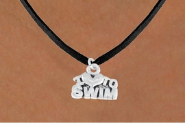 "<bR>         EXCLUSIVELY OURS!!<Br>        LEAD & NICKEL FREE!!<BR>W334SN - ""I LOVE TO SWIM""<Br> NECKLACE AS LOW AS $3.65"