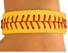 <bR>             EXCLUSIVELY OURS!!!<BR>W10081B - THE ORIGINAL & ONLY<BR>GIRLS YELLOW SOFTBALL VELCRO<Br>     ADJUSTABLE BRACELET FROM<Br>          $2.65 TO $5.00  �2007