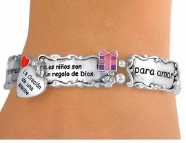 "<Br>                    EXCLUSIVELY OURS!!<bR> W5211B - SPANISH MOTHER'S PRAYER<bR>""LA ORACION DE UNA MADRE"" STRETCH<Br> BRACELET©2010 FROM $3.94 TO $8.75"