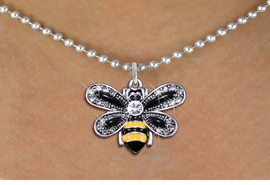 <BR>                       INSECT JEWELRY <bR>                   EXCLUSIVELY OURS!! <Br>              AN ALLAN ROBIN DESIGN!! <BR>     CLICK HERE TO SEE 1000+ EXCITING <BR>           CHANGES THAT YOU CAN MAKE! <BR>        LEAD, NICKEL & CADMIUM FREE!! <BR>     W1439SN - SILVER TONE WITH CLEAR <BR> CRYSTAL BUMBLEBEE CHARM AND NECKLACE <BR>            FROM $5.90 TO $9.35 �2013