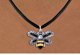 <BR>                       INSECT JEWELRY <bR>                   EXCLUSIVELY OURS!! <Br>              AN ALLAN ROBIN DESIGN!! <BR>     CLICK HERE TO SEE 1000+ EXCITING <BR>           CHANGES THAT YOU CAN MAKE! <BR>        LEAD, NICKEL & CADMIUM FREE!! <BR>     W1439SN - SILVER TONE WITH CLEAR <BR> CRYSTAL BUMBLEBEE CHARM AND NECKLACE <BR>            FROM $5.55 TO $9.00 �2013