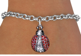 <BR>                      INSECT JEWELRY <bR>                   EXCLUSIVELY OURS!! <Br>              AN ALLAN ROBIN DESIGN!! <BR>     CLICK HERE TO SEE 1000+ EXCITING <BR>           CHANGES THAT YOU CAN MAKE! <BR>        LEAD, NICKEL & CADMIUM FREE!! <BR> W1441SN - SILVER TONE WITH RED AND JET<BR> CRYSTAL LADYBUG CHARM AND NECKLACE <BR>            FROM $5.55 TO $9.00 �2013