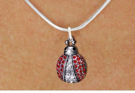 <BR>                LADY BUG NECKLACE<bR>                   EXCLUSIVELY OURS!! <Br>              AN ALLAN ROBIN DESIGN!! <BR>     CLICK HERE TO SEE 1000+ EXCITING <BR>           CHANGES THAT YOU CAN MAKE! <BR>        LEAD, NICKEL & CADMIUM FREE!! <BR> W1441SN - SILVER TONE WITH RED AND JET<BR> CRYSTAL LADYBUG CHARM AND NECKLACE <BR>            FROM $5.55 TO $9.00 �2013