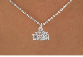<BR>            LEAD AND NICKEL FREE!  <BR>             ASSEMBLED IN THE USA<BR>  CLICK HERE TO SEE 500+ EXCITING<BR>   CHANGES THAT YOU CAN MAKE!<BR>     W809SN - I LOVE MY FIREMAN<Br>    NECKLACE FROM $3.65 TO $7.50