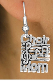 <BR>             LEAD AND NICKEL FREE!  <BR>              ASSEMBLED IN THE USA<BR>  CLICK HERE TO SEE 500+ EXCITING<BR>   CHANGES THAT YOU CAN MAKE!<BR>             W815SE - CHOIR MOM <Br>       EARRING FROM $4.50 TO $8.35