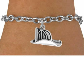 <BR>                   LEAD AND NICKEL FREE!  <BR>                   ASSEMBLED IN THE USA<BR>         CLICK HERE TO SEE 500+ EXCITING<BR>             CHANGES THAT YOU CAN MAKE!<BR>             W816SB - FIREMAN HELMET CHARM <Br>           & BRACELET FROM $3.25 TO $7.50
