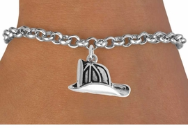 <BR>                   LEAD AND NICKEL FREE!  <BR>                   ASSEMBLED IN THE USA<BR>         CLICK HERE TO SEE 500+ EXCITING<BR>             CHANGES THAT YOU CAN MAKE!<BR>             W816SB - FIREMAN HELMET CHARM <Br>           & BRACELET FROM $4.50 TO $8.35