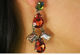 <BR>                   LEAD AND NICKEL FREE<BR> W17336E - ANTIQUE GOLD AND EARTH <BR>TONE FACETED STONE CHANDELIER <BR>      EARRING FROM $6.19 TO $13.75
