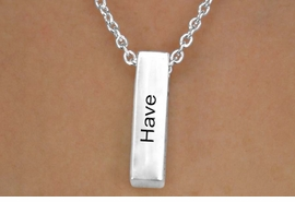 "<Br>            LEAD & NICKEL FREE!!<Br>             EXCLUSIVELY OURS!!<BR>         AN ALLAN ROBIN DESIGN<BR>          W13324N - ""HAVE FAITH<BR>                EXPECT MIRACLES""<Br>UNISEX CUBOID DROP NECKLACE<BR>             FROM $3.95 TO $10.00"