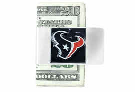 <Br>            LEAD & NICKEL FREE!<Br>    NFL OFFICIALLY LICENSED!!<Br>W15127MC - HOUSTON TEXANS<Br>  NATIONAL FOOTBALL LEAGUE<Br> MONEY CLIP AS LOW AS $6.30