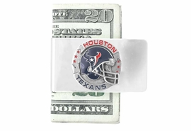 <Br>            LEAD & NICKEL FREE!<Br>    NFL OFFICIALLY LICENSED!!<Br>W15130MC - HOUSTON TEXANS<Br>  NATIONAL FOOTBALL LEAGUE<Br> MONEY CLIP AS LOW AS $6.30