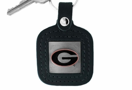 "<Br>                   LEAD & NICKEL FREE!!<BR>          OFFICIAL COLLEGE LICENSED!!<Br>  W15194KC - UNIVERSITY OF GEORGIA<Br>""BULLDOGS"" GENUINE BLACK LEATHER<bR>   FRAMED KEY CHAIN AS LOW AS $2.99"