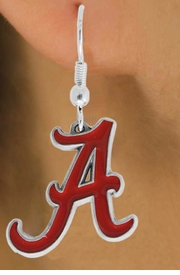 "<Br>                 LEAD & NICKEL FREE!!<Br>      OFFICIAL COLLEGE LICENSED!!!<bR>W15766E - UNIVERSITY OF ALABAMA<Br>          ""CRIMSON TIDE"" EARRINGS<bR>                 FROM $5.06 TO $11.25"