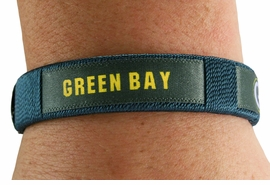 """<BR>             LEAD & NICKEL FREE!!<br>         OFFICIAL NFL LICENSED!<BR>W19027B - """"GREEN BAY PACKERS""""<Br>            CUFF BRACELET FROM<br>                     $1.99"""