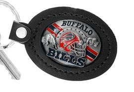 <Br>               LEAD & NICKEL FREE!!<BR>           OFFICIAL NFL LICENSED!!<Br>   W19637KC - BUFFALO BILLS <Br>GENUINE BLACK LEATHER FRAMED<Br>KEY CHAIN FROM $9.56 TO $21.25