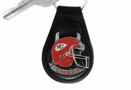 <Br>              LEAD & NICKEL FREE!!<BR>          OFFICIAL NFL LICENSED!! <Br>W19640KC - KANSAS CITY CHIEFS <Br>GENUINE BLACK LEATHER FRAMED <Br>KEY CHAIN FROM $2.99