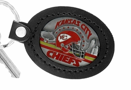 <Br>               LEAD & NICKEL FREE!!<BR>           OFFICIAL NFL LICENSED!!<Br>   W19670KC - KANSAS CITY CHIEFS <Br>GENUINE BLACK LEATHER FRAMED<Br>KEY CHAIN FROM $9.56 TO $21.25