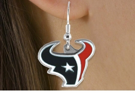 <bR>             LEAD & NICKEL FREE!!<Br>            OFFICIALLY LICENSED!!<Br>   NATIONAL FOOTBALL LEAGUE!!<Br>    W14880E - HOUSTON TEXANS<Br>LOGO EARRINGS AS LOW AS $4.73
