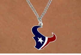 <Br>         LEAD & NICKEL FREE!!<Br>        OFFICIALLY LICENSED!!<Br>NATIONAL FOOTBALL LEAGUE!!<Br>W14920N - HOUSTON TEXANS<Br>       CHAIN LOGO NECKLACE<br>              FROM $4.20 TO $10.00