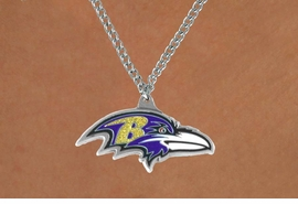 <Br>           LEAD & NICKEL FREE!!<Br>          OFFICIALLY LICENSED!!<Br> NATIONAL FOOTBALL LEAGUE!!<Br>W14955N - BALTIMORE RAVENS<Br>    NECKLACE AS LOW AS $4.20