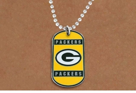 <Br>       LEAD & NICKEL FREE!!<Br>      OFFICIALLY LICENSED!!<Br>NATIONAL FOOTBALL LEAGUE!!<Br>W19628N - GREEN BAY PACKERS <Br>          DOG TAG NECKLACE<br>        FROM $2.99