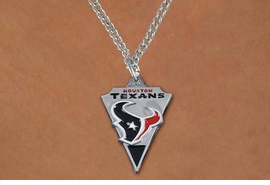 <Br>         LEAD & NICKEL FREE!!<Br>        OFFICIALLY LICENSED!!<Br>NATIONAL FOOTBALL LEAGUE!! <Br>W19632N - HOUSTON TEXANS <Br>ARROWHEAD CHAIN NECKLACE<br>              FROM $5.36 TO $12.50