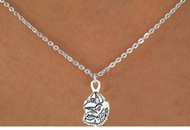 "<Br>               LEAD & NICKEL FREE!!<Br>         STERLING SILVER PLATED!!<Br>  W12778N - LICENSED UNIVERSITY<BR>OF GEORGIA ""BULLDOGS"" MASCOT<BR>        NECKLACE AS LOW AS $1.99"