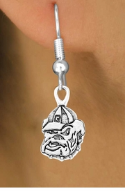 "<Br>               LEAD & NICKEL FREE!!<Br>         STERLING SILVER PLATED!!<br>  W12779E - LICENSED UNIVERSITY<BR>OF GEORGIA ""BULLDOGS"" MASCOT<br>        EARRINGS AS LOW AS $1.99"