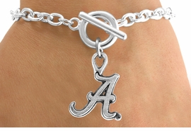 <Br>              LEAD & NICKEL FREE!!<Br>        STERLING SILVER PLATED!!<bR>W12902B - LICENSED UNIVERSITY<Br>     OF ALABAMA LOGO BRACELET<BR>             FROM $3.94 TO $8.75