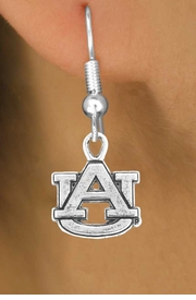 <Br>           LEAD & NICKEL FREE!!<Br>     STERLING SILVER PLATED!!<bR>W12987E - LICENSED AUBURN<Br>UNIVERSITY TIGERS EARRINGS<Br>               AS LOW AS $3.65