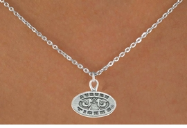 <Br>          LEAD & NICKEL FREE!!<Br>     STERLING SILVER PLATED!!<bR>W13004N - LICENSED AUBURN<Br>UNIVERSITY TIGERS NECKLACE<Br>                AS LOW AS $3.65