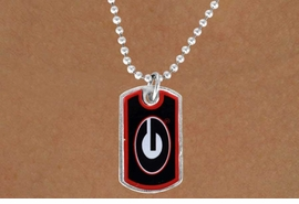 "<Br>               LEAD & NICKEL FREE!!<Br>         STERLING SILVER PLATED!!<bR>  W13488N - LICENSED UNIVERSITY<BR>OF GEORGIA ""BULLDOGS"" DOG TAG<br>  LOGO NECKLACE AS LOW AS $1.99"