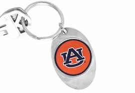 """<Br>           LEAD & NICKEL FREE!!<Br>      STERLING SILVER PLATED!!<bR>W14005KC - LICENSED AUBURN<br>    UNIVERSITY """"TIGERS"""" LOGO<Br>    KEY CHAIN AS LOW AS $1.99"""