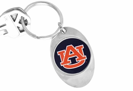 """<Br>           LEAD & NICKEL FREE!!<Br>      STERLING SILVER PLATED!!<bR>W14007KC - LICENSED AUBURN<br>    UNIVERSITY """"TIGERS"""" LOGO<Br>    KEY CHAIN AS LOW AS $1.99"""
