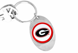 "<Br>              LEAD & NICKEL FREE!!<Br>        STERLING SILVER PLATED!!<bR>W14181KC - LICENSED UNIVERSITY<Br>  OF GEORGIA ""BULLDOGS"" LOGO<Br>       KEY CHAIN AS LOW AS $1.99"