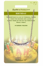 "<Br>                  LEAD & NICKEL FREE!!<Br>          SYMBOLS OF INSPIRATION!!<Br>W15438N - ""MAKE A WISH"" BIRTHDAY<Br>      NECKLACE WITH GIFT CARD AND<Br>           ENVELOPE AS LOW AS $6.97"