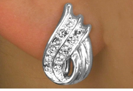 "<Br>            LEAD & NICKEL FREE!!<BR>     W12438E - ""RIBBON WAVE""<Br>    AUSTRIAN CRYSTAL CLIP-ON<Br>EARRINGS FROM $3.35 TO $7.50"