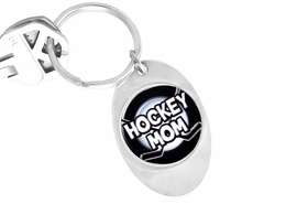 "<Br>               LEAD & NICKEL FREE!!<Br>W13042KC - ""HOCKEY MOM"" OVAL<Br>        KEY CHAIN AS LOW AS $1.99"