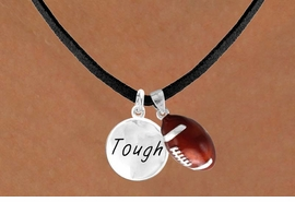 "<Br>       LEAD & NICKEL FREE!!<Br>W13554N - ""TOUGH"" DISC &<br>       FOOTBALL NECKLACE<br>            AS LOW AS $4.50"