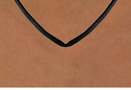 <BR>                   LEAD & NICKEL FREE!!<Br>W14158N - BLACK SUADE  LEATHERETTE<BR>              NECKLACE AS LOW AS $1.65