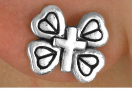 <bR>                  LEAD & NICKEL FREE!!<Br>    W14486E - MINIATURE BUTTERFLY<Br>CROSS EARRINGS FROM $2.25 TO $5.00