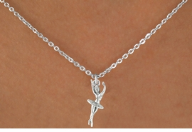 "<Br>             LEAD & NICKEL FREE!!<BR>   W14579N - ""BALLERINA TWIRL""<Br>CHILDREN'S 12"" CHAIN NECKLACE<BR>                   AS LOW AS $3.55"