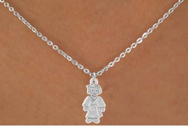 "<Br>             LEAD & NICKEL FREE!!<BR>    W14583N - KARATE GIRL ON A<Br>CHILDREN'S 12"" CHAIN NECKLACE<BR>                  AS LOW AS $3.55"
