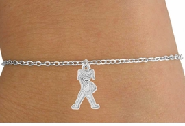 <Br>          LEAD & NICKEL FREE!!<BR>W14584B - GYMNASTICS GIRL<Br> CHILDREN'S CHAIN BRACELET<BR>               AS LOW AS $3.25