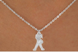 "<Br>             LEAD & NICKEL FREE!!<BR>    W14585N - GYMNASTICS GIRL<Br>CHILDREN'S 12"" CHAIN NECKLACE<BR>                   AS LOW AS $3.55"