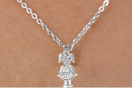 "<Br>             LEAD & NICKEL FREE!!<BR>     W14589N - TAP DANCER ON A<Br>CHILDREN'S 12"" CHAIN NECKLACE<BR>                   AS LOW AS $3.55"