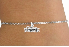 "<Br>           LEAD & NICKEL FREE!!<BR>W14590B - ""GRANDDAUGHTER""<Br>  CHILDREN'S CHAIN BRACELET<BR>                AS LOW AS $3.25"
