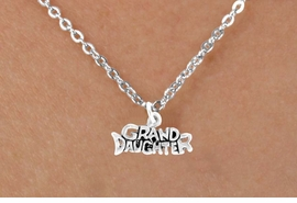 "<Br>             LEAD & NICKEL FREE!!<BR>  W14591N - ""GRANDDAUGHTER""<Br>CHILDREN'S 12"" CHAIN NECKLACE<BR>                  AS LOW AS $3.55"