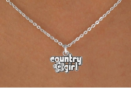 "<Br>            LEAD & NICKEL FREE!!<BR>     W14636N - ""COUNTRY GIRL""<Br>CHILDREN'S 12"" CHAIN NECKLACE<BR>                  AS LOW AS $3.55"