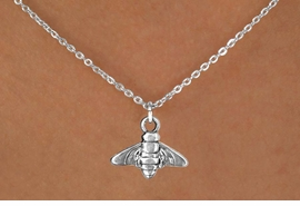 "<Br>           LEAD & NICKEL FREE!!<BR>            W14638N - BEE ON A<Br>CHILDREN'S 12"" CHAIN NECKLACE<BR>                  AS LOW AS $3.55"